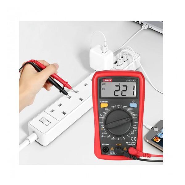 مولتی متر دیجیتال UNI-T UT33C با سنسور اندازه گیری دما Temperature