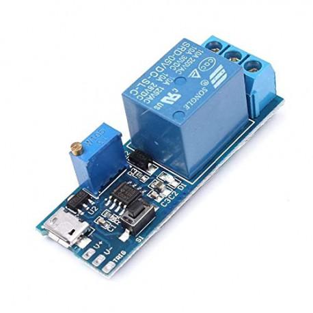 ماژول تایمر رله قابل تنظیم 5 - 30 ولت 10 آمپر Micro USB Power adjustable