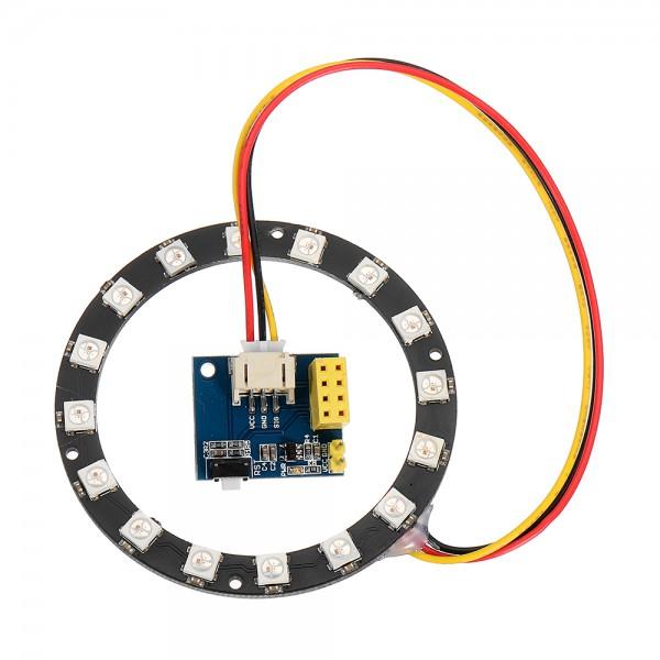 ماژول کنترلر ال ای دی وای فای ESP8266 RGB LED RING