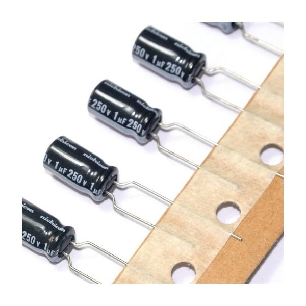 بسته 10 عددی خازن 1 میکروفاراد 250 ولت