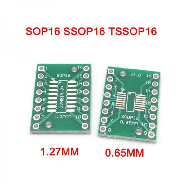 برد تبدیل SMD به Dip مدل sop16 1.27 to ssop16 0.65