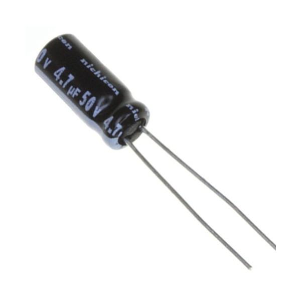 بسته 10 عددی خازن 4.7 میکروفاراد 50 ولت