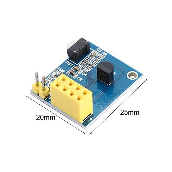 ماژول HomeMCU با سنسور دما DS18B20 و قابلیت نصب وای فای ESP8266 -01