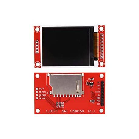 نمایشگر LCD 1.44 اینچ با رابط SPI و تراشه ST7735