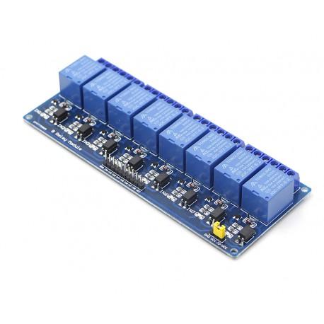 ماژول رله 5 ولت هشت کاناله برند TONGLING با اپتوکوپلر Relay Module