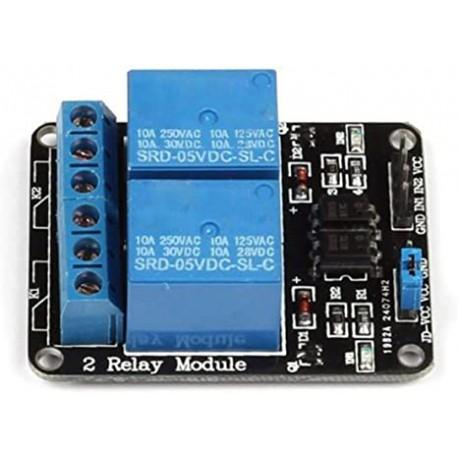 ماژول رله 5 ولت دو کاناله برند TONGLING با اپتوکوپلر Relay Module