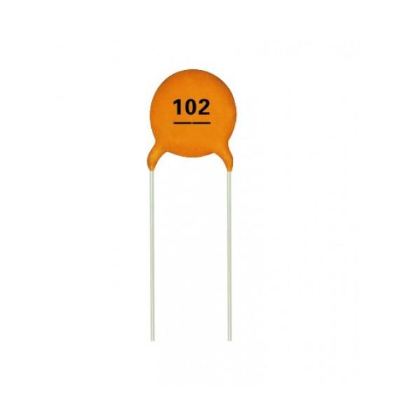 بسته 10 عددی خازن عدسی 1000 پیکوفاراد