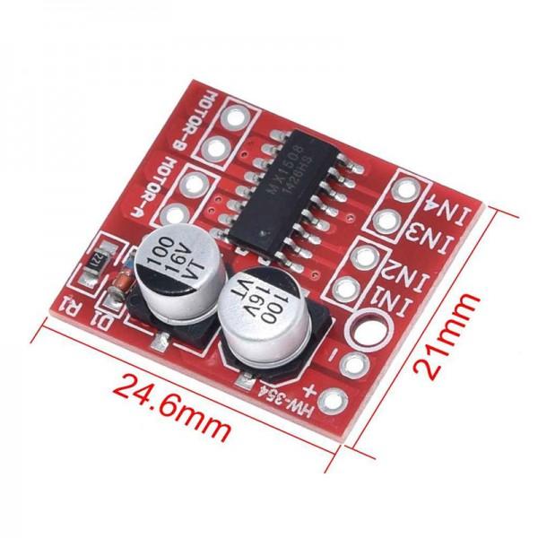 ماژول درایور موتور MX1508 Dual H Bridge کنترل PWM موتور DC و استپر موتور