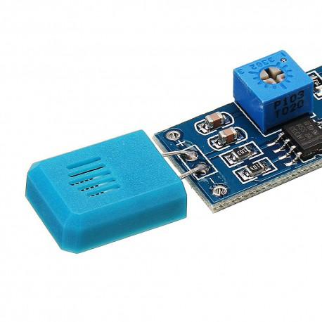 ماژول دمارطوبت با سنسور مقاومتی HR202 و تراشه LM393 با خروجی دیجیتال