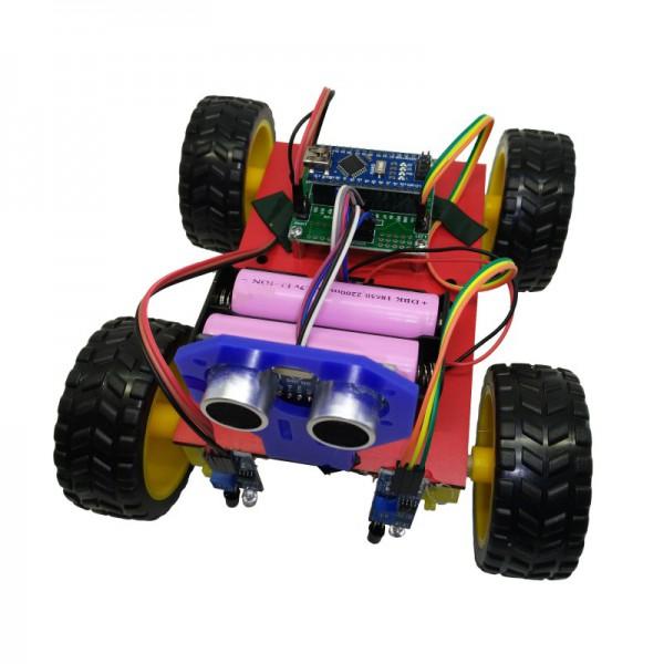 کیت رباتیک آوات روبو مدل ربات مسیریاب با قابلیت دور شونده از موانع - دانشجو کیت