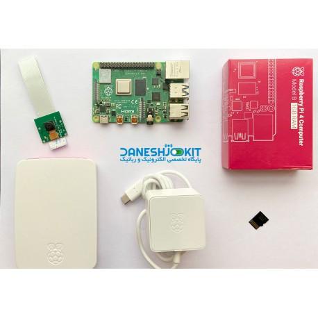کیت رزبری پای Raspberry Pi 4 حافظه 1 گیگ و دوربین و آداپتور - دانشجو کیت
