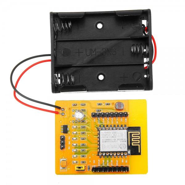 برد وای فای ESP8266 ESP-12E به همراه جاباتری AA - دانشجو کیت