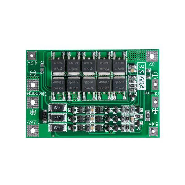 ماژول شارژر باتری لیتیومی 3S ولتاژ 6 - 12 ولت 60 آمپر