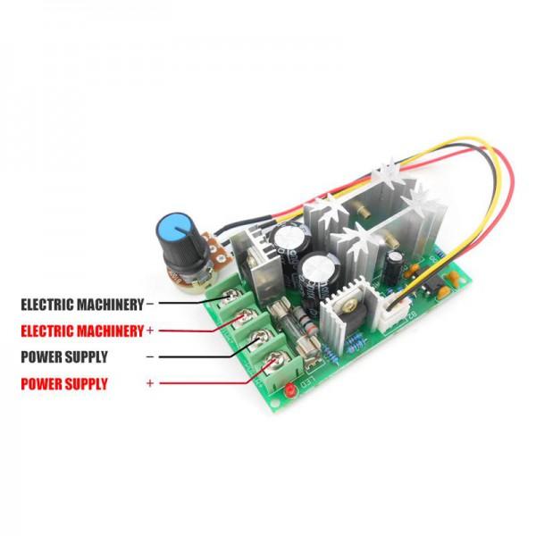 ماژول PWM 20A مناسب کنترل دور موتور 1200وات 12 تا 60 ولت