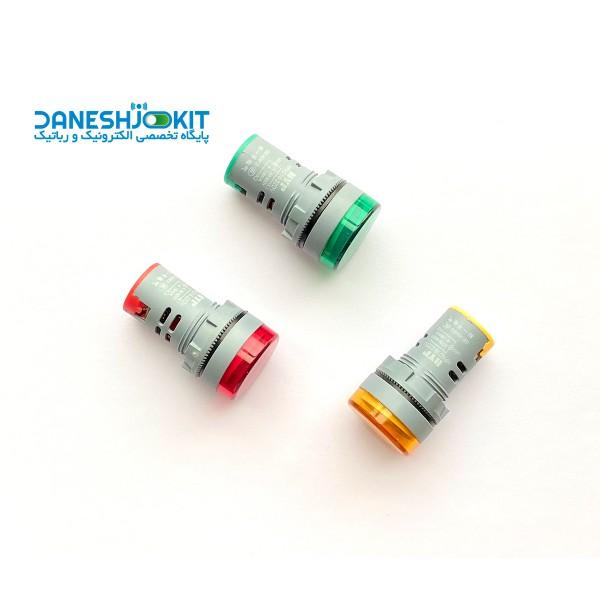 ماژول ولت متر AC پنلی گرد رنگی 50V-500V