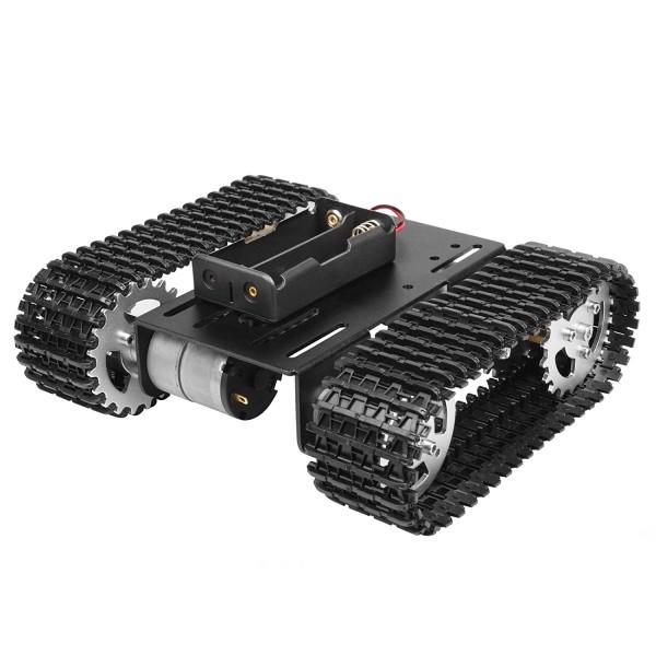 کیت شاسی رباتیک تانک DIY با موتور گیربکس دار و جاباتری 18650