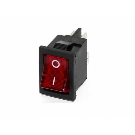 کلید راکر دو حالته 4 پین چراغ دار KCD1-201