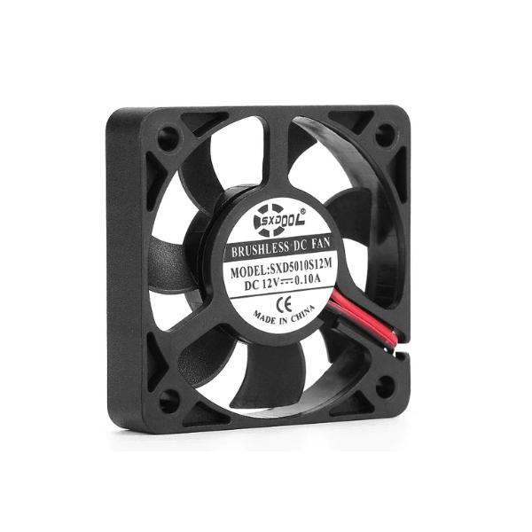 فن خنک کننده 5*5 -دمنده هوا 12 ولت DC براشلس برند SXD