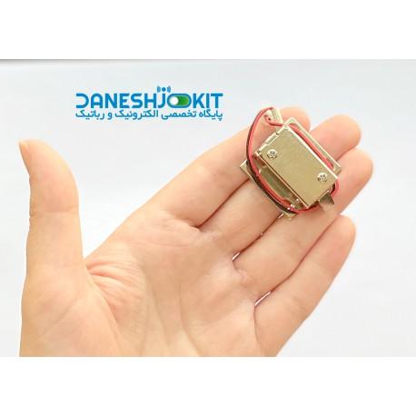 قفل برقی شافت زبانه دار 12 ولت کوچک