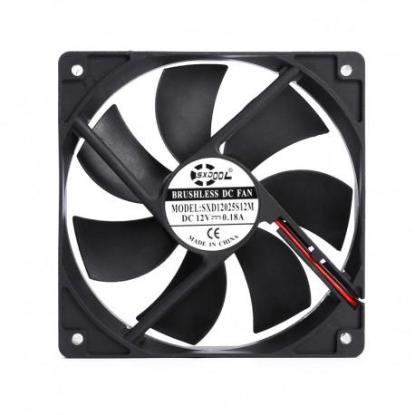 فن براشلس 12X12cm برند SXD ولتاژ 12V جریان 0.18A