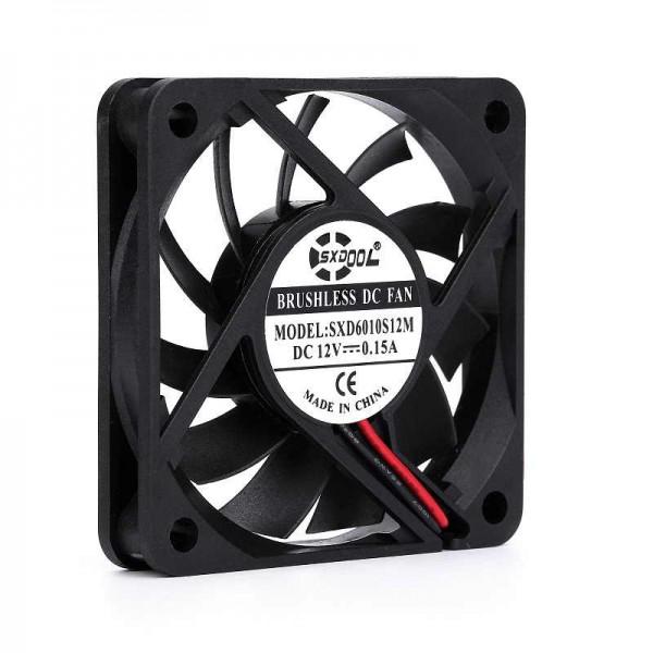 فن براشلس 6x6cm برند SXD ولتاژ 12V جریان 0.18A