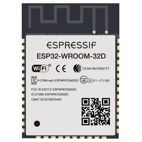 تراشه ESP32-WROOM-32D دارای آنتن داخلی وای فای و بلوتوث