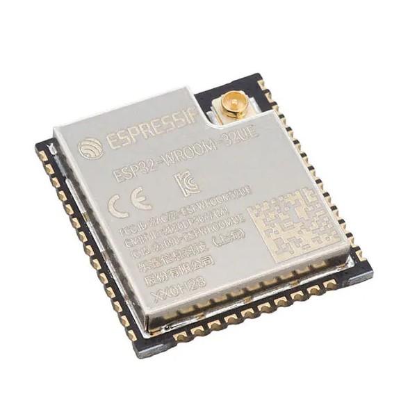 تراشه ESP32-WROOM-32UE دارای آنتن داخلی وای فای و بلوتوث قابلیت نصب آنتن
