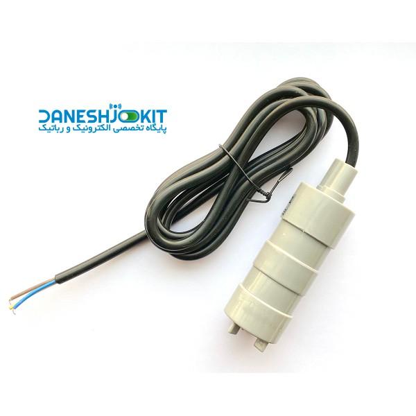 پمپ آب غرق آبی 12 ولت مدل JT-500 با حجم 14 لیتر در دقیقه و 5 متر ارتفاع انتقال آب DC submersible pump mini water pump