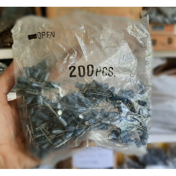 بسته 200 عددی خازن 470 میکروفاراد 6.3 ولت - دانشجو کیت