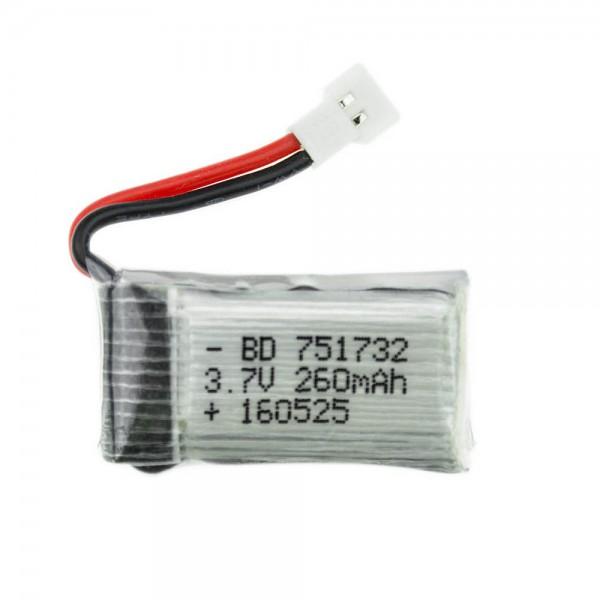باتری لیتیوم پلیمر Li-Po مخصوص پهپاد 3.7V 300mAh Battery ابعاد 20x30x7mm