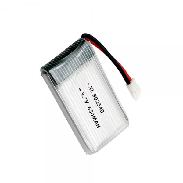 باتری 650mAh لیتیوم پلیمر پروازی Li-Po 3.7V ابعاد 25x40x9mm