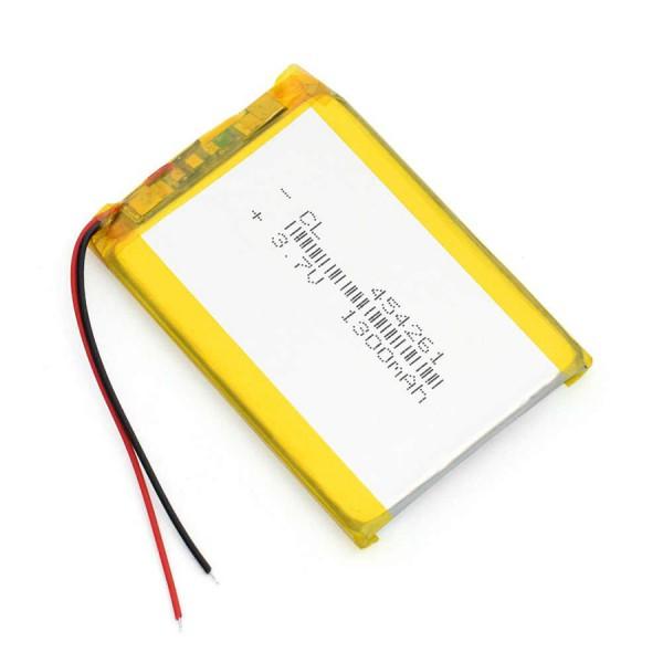 باتری لیتیوم پلیمر 1300mAh Li-Po 3.7V تک سل 42x61x5mm - دانشجو کیت