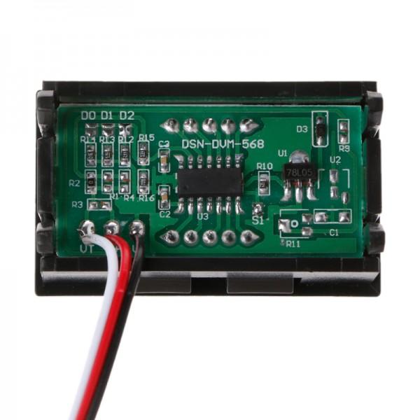 ماژول ولت متر پنلی 3 سیمه 100V با نمایشگر سگمنت 3 دیجیت ولتاژ 0-100 ولت DC