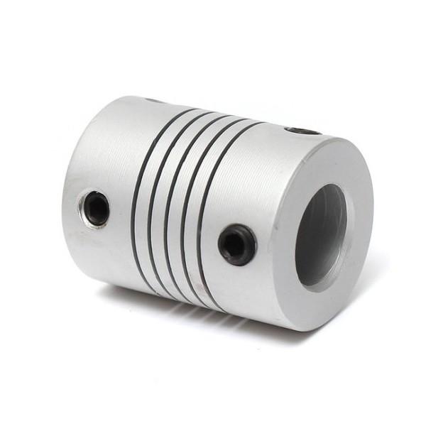 کوپلینگ انعطاف پذیر 5 به 8 آلومینیومی با پیچ رگلاژ