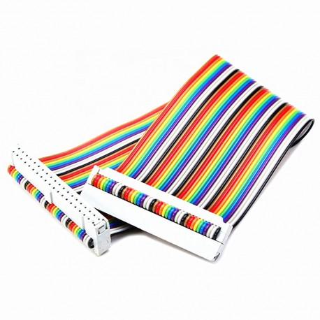 کابل فلت 40 رشته رنگی رزبری پای Raspberry pi 40 pin Flat Cable