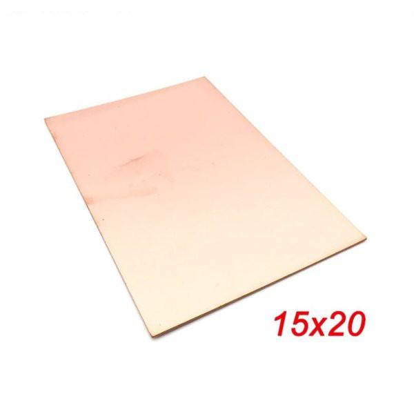 فیبر مسی 15x20cm مدار چاپی فایبر گلاس یک رو 1.6mm