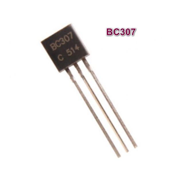 بسته ی 50 عددی ترانزیستور PNP آمپلی فایر BC307 TO-92