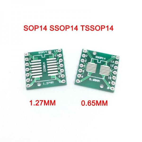 برد تبدیل SMD به Dip مدل sop14 1.27 to ssop14 0.65 - دانشجو کیت