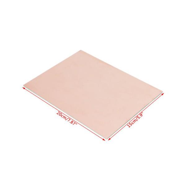 فیبر مسی 15x20cm مدار چاپی فنول یک رو 1.6mm