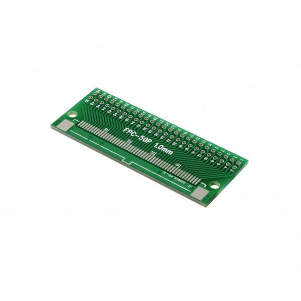 برد PCB آداپتور FPC50 دارای استاندارد 0.5 و 1 میلی متری