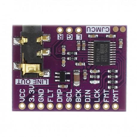 ماژول PCM5102A مبدل دیجیتال به آنالوگ صوتی استریو CJMCU - 5102
