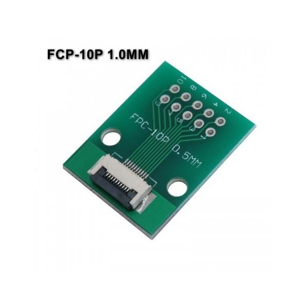 برد PCB آداپتور FPC-10P دارای استاندارد 0.5 میلی متری به همراه کانکتور FPC