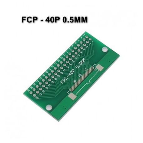 برد PCB آداپتور FCP- 40P دارای استانداردهای 0.5 و 1 میلی متری
