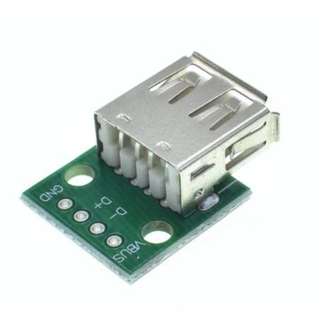 برد تغذیه مادگی USB2.0 TYPE A TO DIP 2.54mm