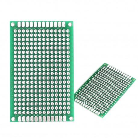برد PCB سوراخ دار دولایه 4x6 سانتی متری