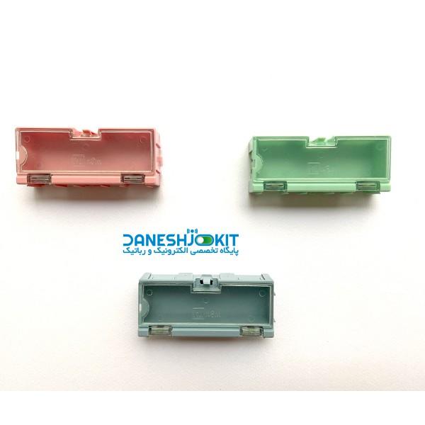 جعبه پلاستیکی مخصوص نگهداری قطعات دارای درب پلاستیکی شفاف
