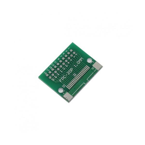 برد آداپتور FPC 20P دارای استاندارد های 0.5 و 1 میلی متری - دانشجو کیت