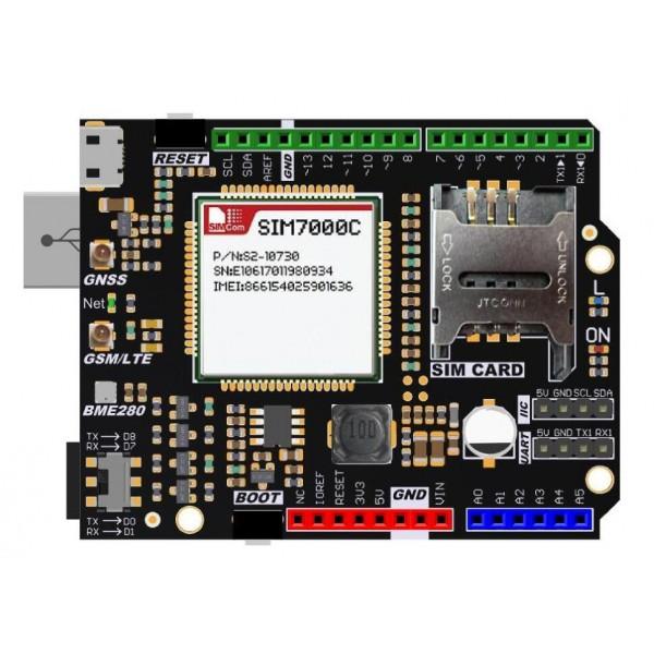 شیلد سیم کارت SIM7000C آردوینو NB-IoT/LTE/GPRS/GPS - دانشجو کیت