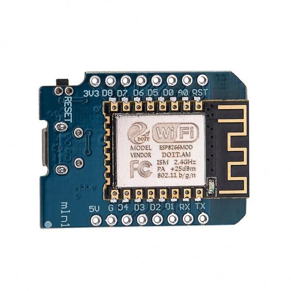 برد کنترلی اینترنت اشیاء IOT Wemos Mini D1 بر پایه ESP8266 با تراشه CH340G