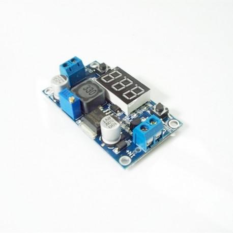 ماژول LM2577 با نمایشگر ولتاژ ورودی و خروجی | دانشجو کیت